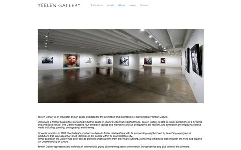 Screenshot of About Page yeelenart.com - Yeelen Gallery - About - captured Oct. 7, 2014