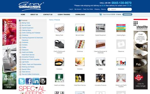 Screenshot of Products Page greysimmonds.co.uk - Products - captured Sept. 30, 2014