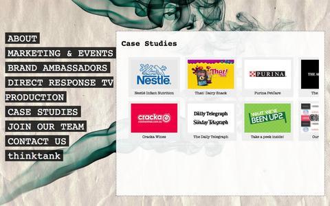 Screenshot of Case Studies Page taketwoevents.com.au - Case Studies - captured Oct. 27, 2014