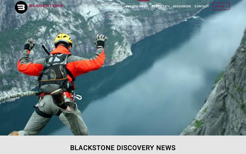 Screenshot of Press Page blackstonediscovery.com - News - Blackstone Discovery - captured June 1, 2017
