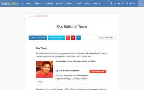 Screenshot of Team Page techlomedia.in - Our Editorial Team - captured Dec. 5, 2016