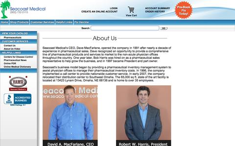 Screenshot of About Page seacoastmedical.com - Seacoast Medical Commerce - captured July 20, 2016