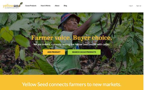 Screenshot of Home Page yellow-seed.org - Yellow seed - captured Feb. 13, 2016