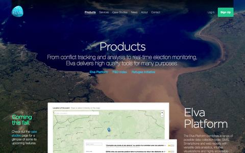Screenshot of Products Page elva.org - Elva   Products - captured Jan. 28, 2016