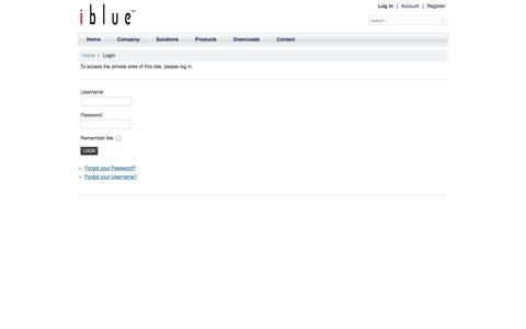 Screenshot of Login Page iblue.co - Login - captured Oct. 6, 2014