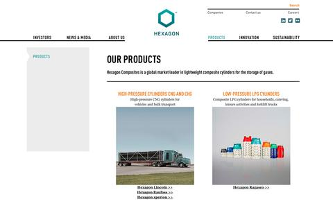 Screenshot of Products Page hexagon.no - Our products - Hexagon - captured Sept. 28, 2018
