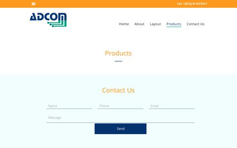 Screenshot of Products Page adcom.co.il - Adcom Computers and Communication    |  Products - captured Oct. 3, 2018