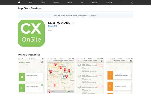 MaritzCX OnSite on the App Store