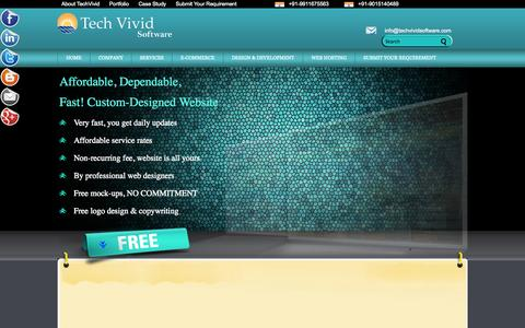 Screenshot of Services Page techvividsoftware.com - SERVICES | TechVividSoftware - captured Oct. 7, 2014