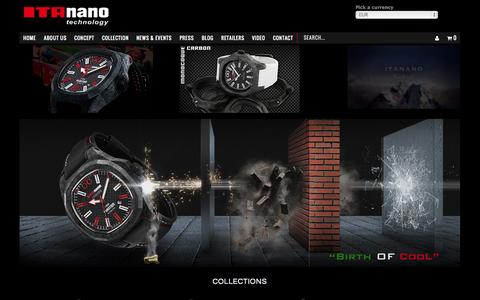 Screenshot of Home Page itanano.com - ITAnano Orologi | We are strong in Carbon Technology - captured Oct. 6, 2014