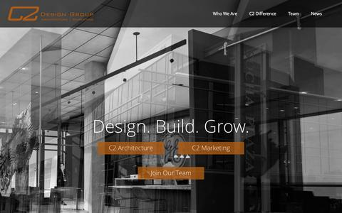 Screenshot of Home Page c2-designgroup.com - C2 Design Group | Architecture & Marketing Firm - captured July 9, 2016