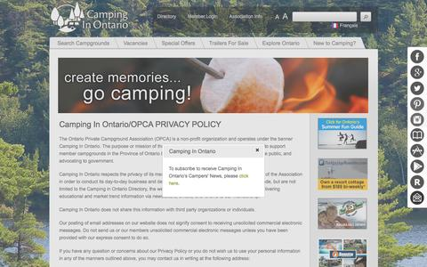 Camping - Privacy Policy