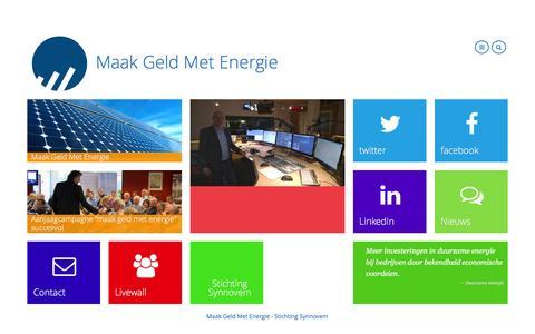 Screenshot of Home Page maakgeldmetenergie.nl - Maak Geld Met EnergieMaak Geld Met Energie - Duurzame Energie voor Bedrijven - captured Dec. 20, 2015