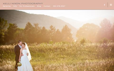 Screenshot of Home Page kellinixon.com - Kelli Nixon Photography - captured Oct. 6, 2014
