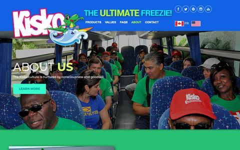 Screenshot of About Page kiskofreezies.com - Kisko : Kisko Freezies - About Us - captured Nov. 29, 2018