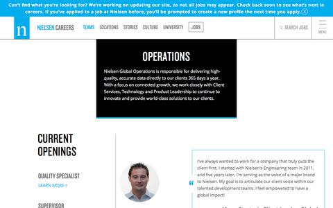 Operations | Nielsen Careers