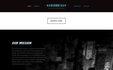 Screenshot of Home Page madison-kay.com - Madison Kay - captured Feb. 2, 2016