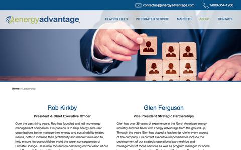 Screenshot of Team Page energyadvantage.com - About Our Team & Our Passion | Energy Advantage - captured July 19, 2018