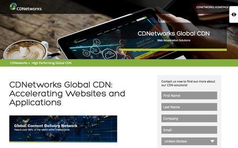 Screenshot of Landing Page cdnetworks.com - High Performing Global CDN   CDNetworks - captured July 15, 2015