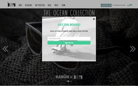 Screenshot of Home Page bureoskateboards.com - Bureo Skateboards | Home - captured Sept. 18, 2015
