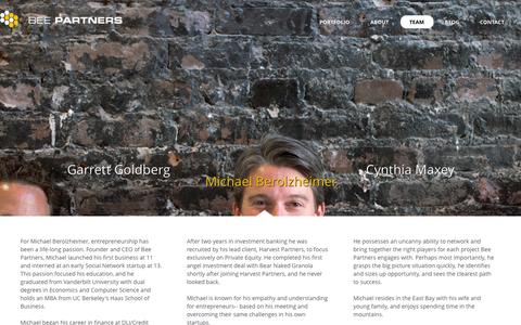 Screenshot of Team Page beepartners.vc - Bee Partners « Team Bee Partners - captured Sept. 30, 2014