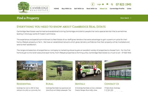 Screenshot of About Page cambridgerealestate.co.nz - Cambridge Real Estate - About Us - captured July 15, 2018