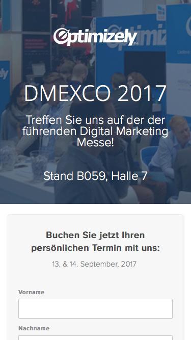 DMEXCO 2017: Treffen Sie Optimizely auf der DMEXCO!