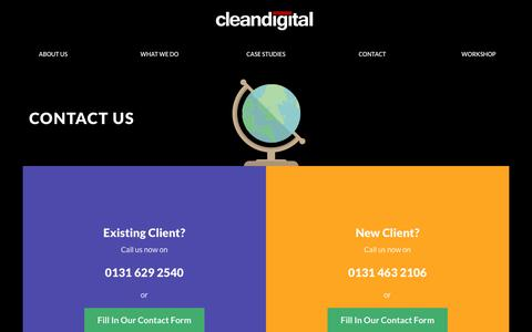 Screenshot of Contact Page cleandigital.co.uk - PPC Management | PPC Consulting | Clean Digital - captured May 18, 2017