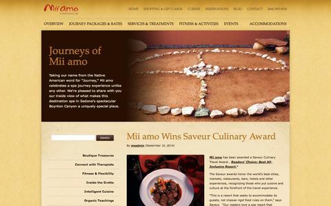 Screenshot of Blog miiamo.com - Mii Amo - captured Oct. 31, 2014