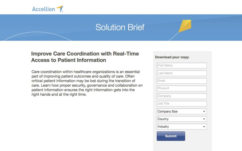 Improve Care Coordination with Real-Time Access to Patient Information , Solution Brief from Accellion