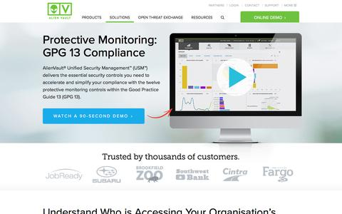 Protective Monitoring: GPG 13 Compliance Software | AlienVault