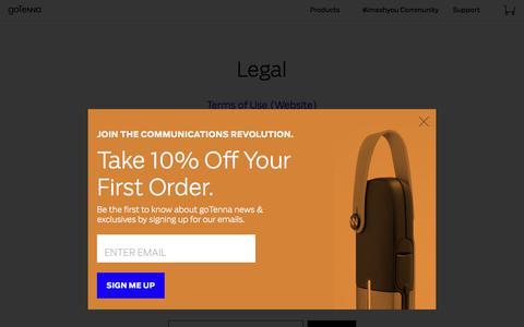 Screenshot of Terms Page gotenna.com - Legal - captured Oct. 15, 2017