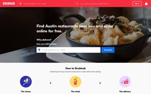 Austin Food Delivery | Austin Restaurant Take Out | Grubhub