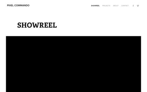 Screenshot of Home Page pixelcommando.fr - Pixel Commando - captured July 13, 2016