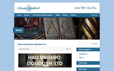 Screenshot of Press Page moedergodskerk.nl - Media - Moeder Godskerk Amsterdam - captured May 23, 2016