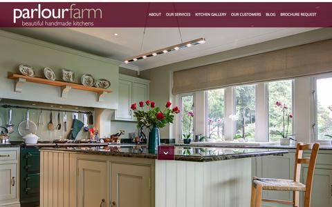 Screenshot of Home Page parlourfarm.com - Beautiful Handmade Kitchens by Parlour Farm, Cotswolds - captured July 18, 2015