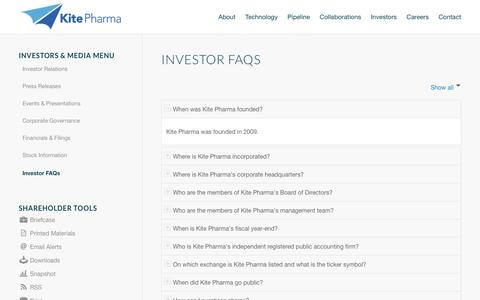 Kite Pharma, Inc. | Investor FAQs