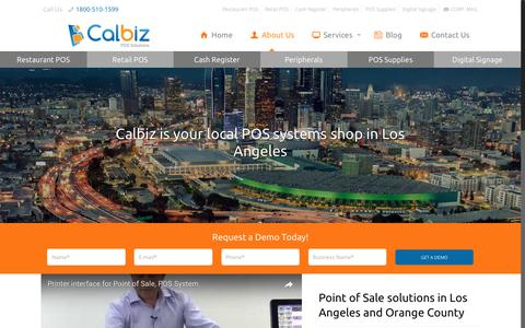 Screenshot of About Page calbiz.com - Your One-Stop Shop for Restaurant Point of Sale Systems in Los Angeles - captured July 11, 2017