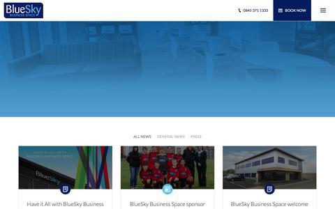Screenshot of Press Page blueskybs.com - News - BlueSky Business Space - captured Feb. 7, 2016