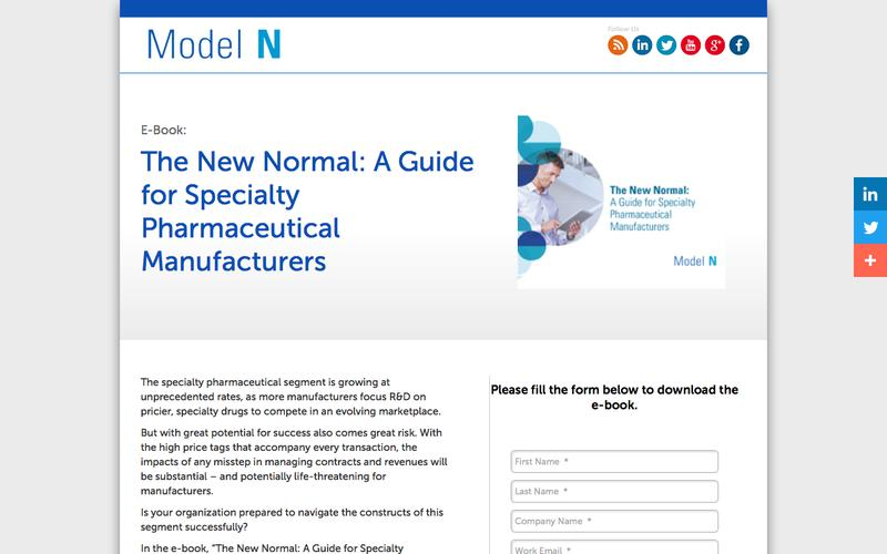 E-Book: The New Normal: A Guide for Specialty Pharmaceutical Manufacturers