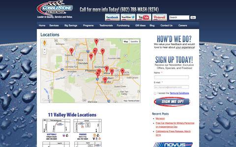 Screenshot of Contact Page Locations Page cobblestone.com - Locations :: Cobblestone Auto Spa - captured Oct. 22, 2014
