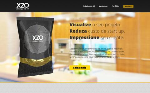Screenshot of Home Page xzo3d.com.br - Mockup de Embalagem - XZO Mockups em 3d - captured Oct. 8, 2014