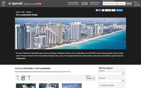 Find Fort Lauderdale Hotels by Marriott