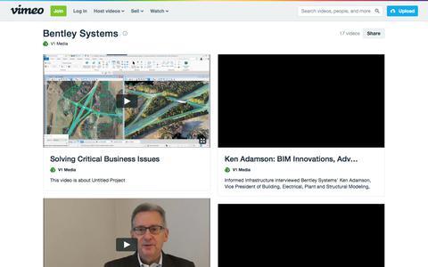 Bentley Systems on Vimeo