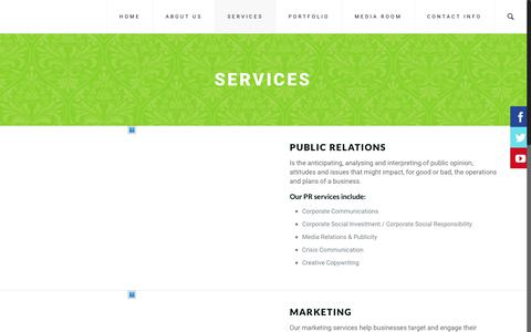 Screenshot of Services Page take-note.co.za - SERVICES | Take Note - captured Dec. 20, 2018