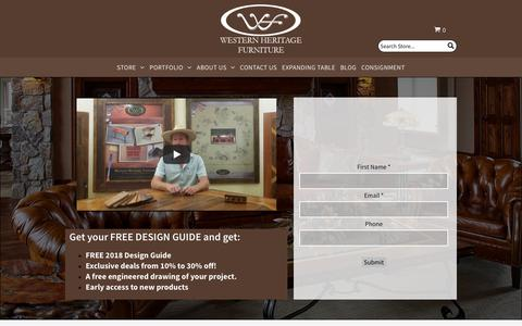Screenshot of Signup Page westernheritagefurniture.com - Newsletter Signup - captured Sept. 2, 2018