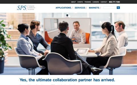 Screenshot of Home Page spscom.com - SPS | Strategic Products and Services - captured Dec. 11, 2015