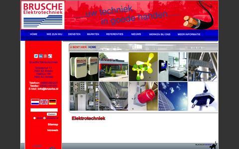 Screenshot of Home Page brusche.nl - Brusche Elektrotechniek - Index - captured Oct. 5, 2014
