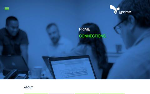 Screenshot of About Page Team Page y-prime.com - YPrime | Connect - captured July 3, 2015