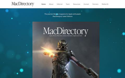 Screenshot of Home Page macdirectory.com - MacDirectory Magazine - captured June 21, 2017